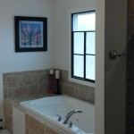 completed window and tub